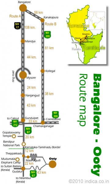 Bangalore to Ooty Route