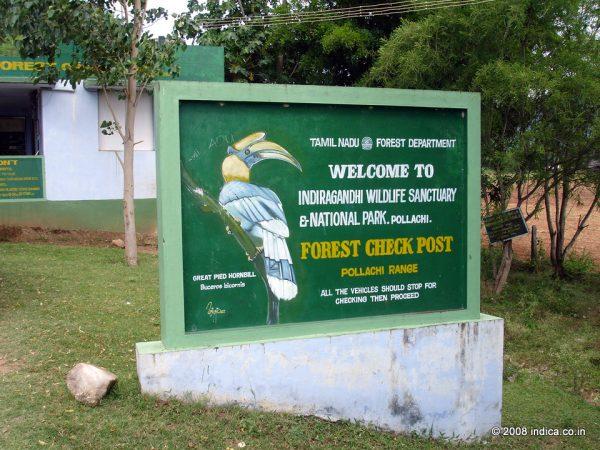 Entry to Indira Gandhi Wildlife Sanctuary and National Park, Tamilnadu