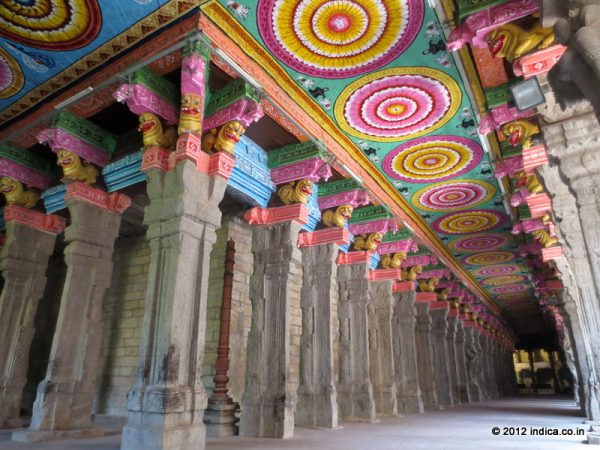 Open Hall Around the main shrine in Meenakshi Temple Complex, Madurai
