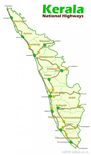 Road Networks of Kerala.