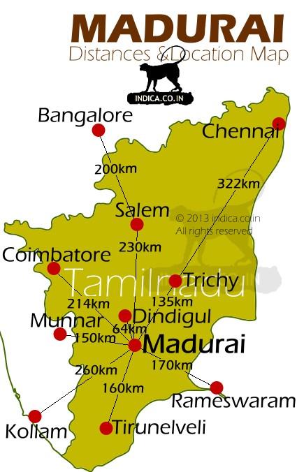 Distances to Madurai.