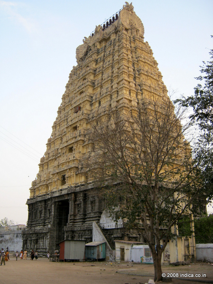 Kancheepuram. The temple tower called Gopuram
