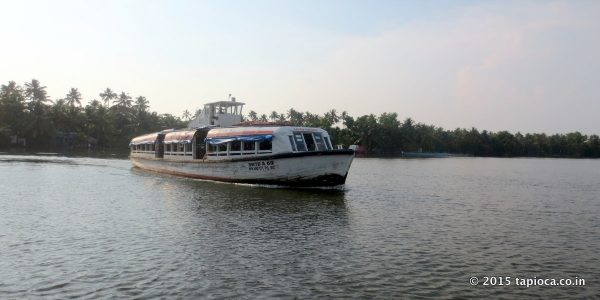 Public ferry service in Vaikom.
