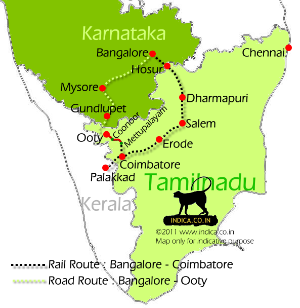 Coimbatore Attractions: Bangalore To Ooty Route Map Bangalore To Ooty Route Map
