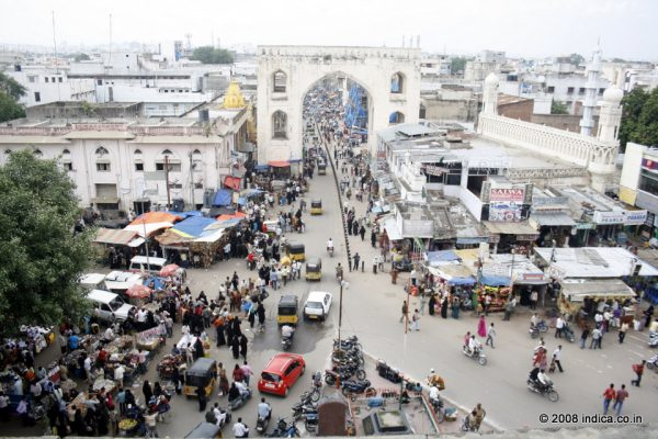 The old town of Hydedabad , view from the Charminar top
