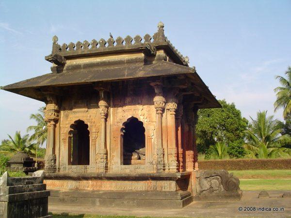 Nandi shrine at The Aghoreshwara Temple in Ikkeri