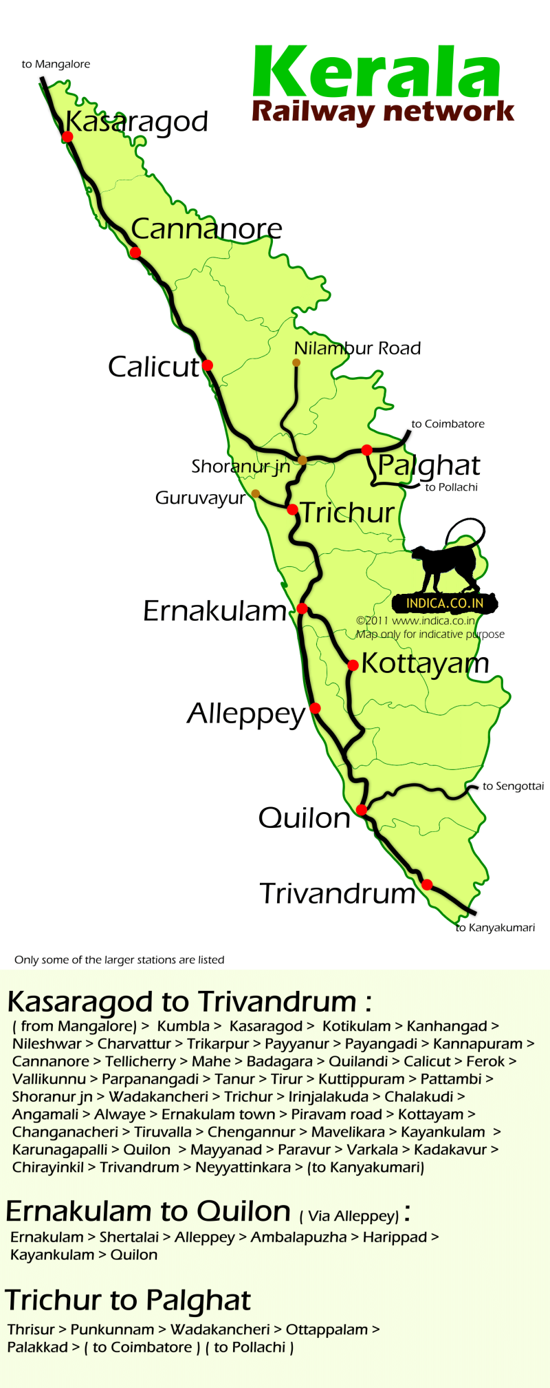 Kerala Rail Map