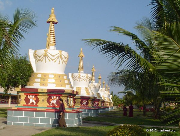 Stupas at Sera Monastic University