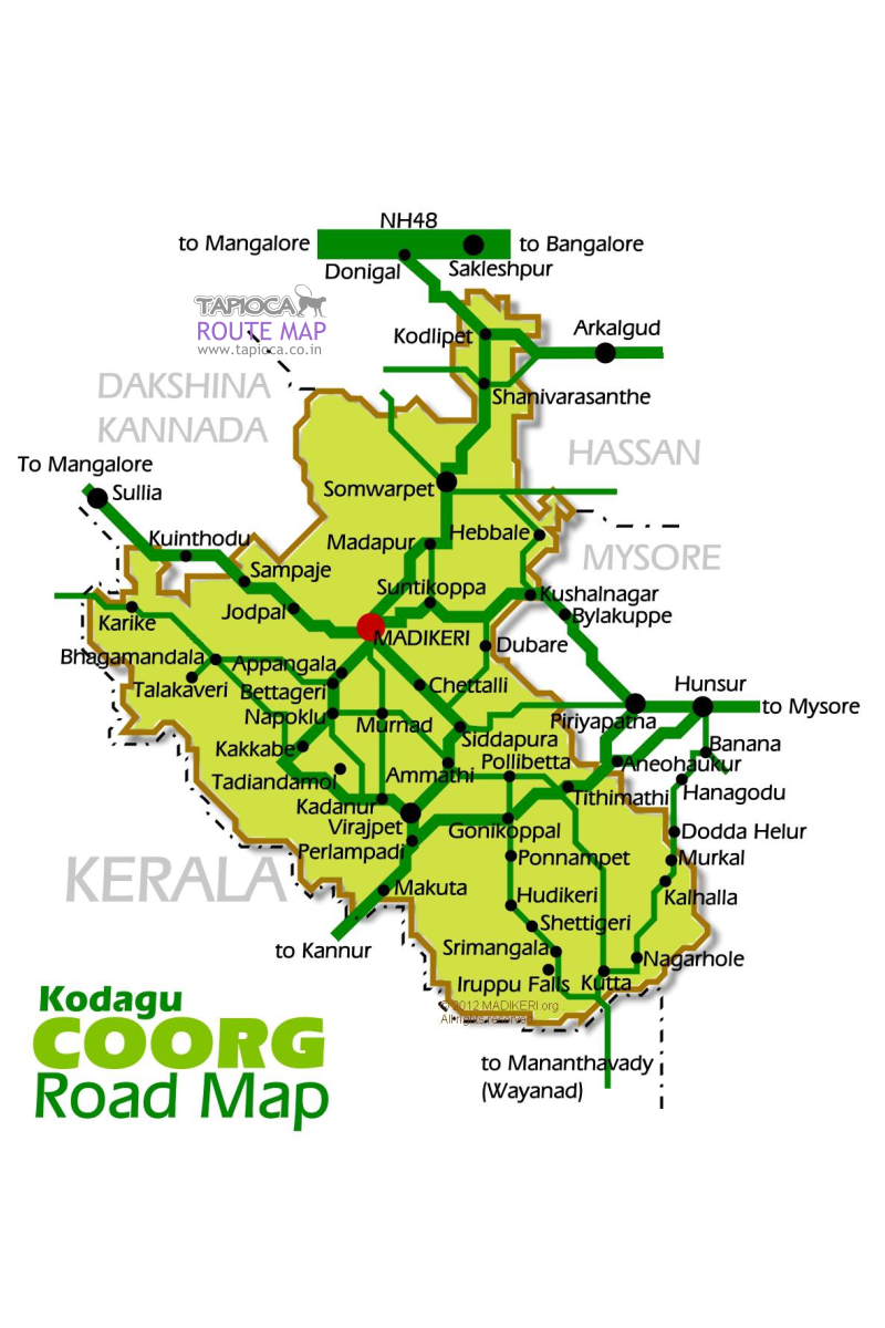 Road map for Coorg