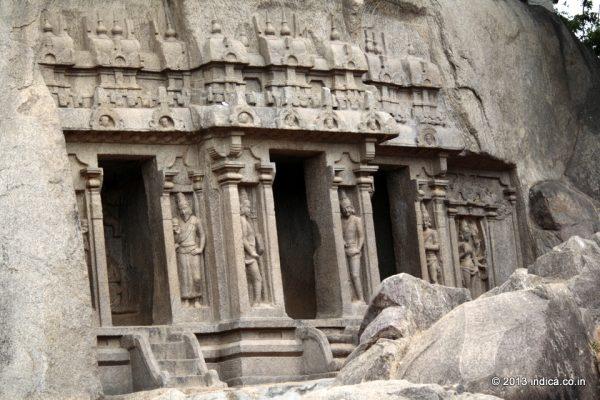 Trimurti Cave in Mahabalipuram