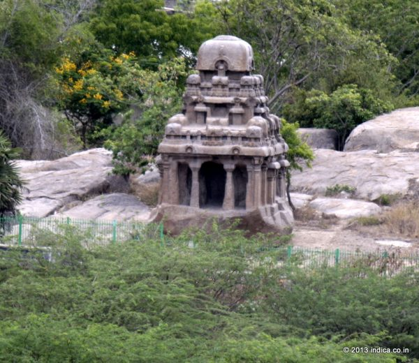 The unfinished Valayankuttai Ratha at Mahabalipuram.