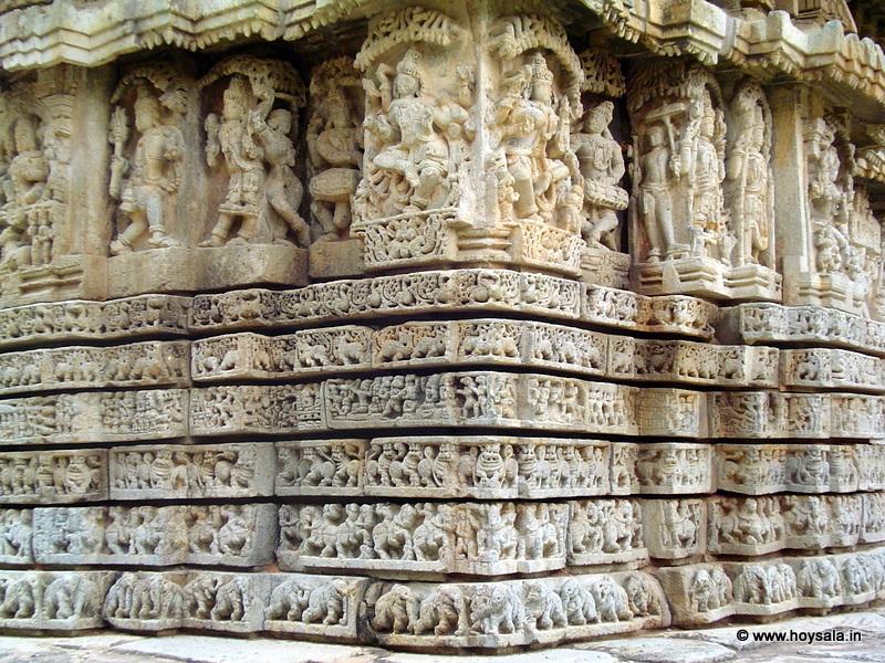 Karnataka travel tips mallikarjuna temple at basaralu for Outer wall design architecture
