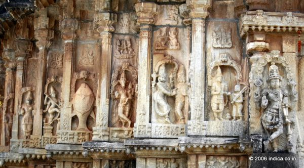 Dasavatara theme on the walls of the Dasavatara theme on the outer walls of Vidyashankara temple at Sringeri