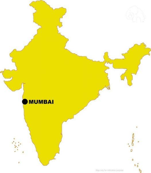 Mumbai is located on the western coast of India, facing the Arabian Sea