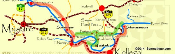 Road map to places near Somnathpur