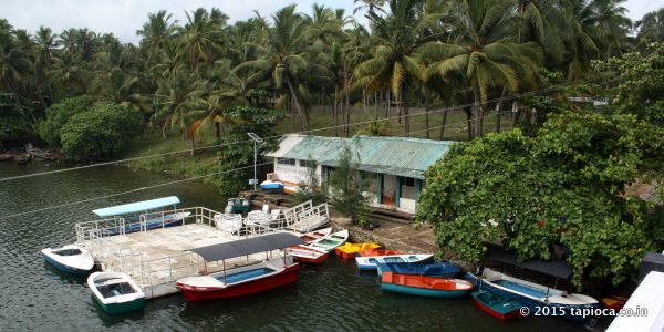 The Priyadarshini Boat Club at Kappil offers boating facilities in the backwaters.
