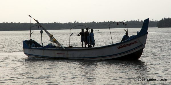 Fishing Boat in Kerala Backwaters