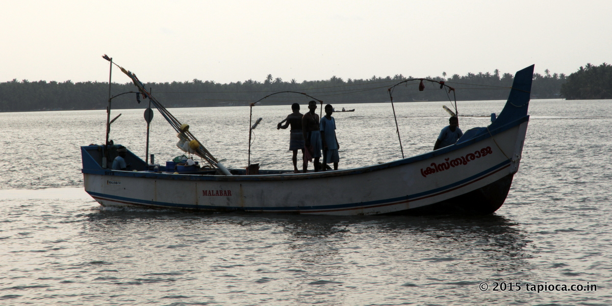 Fishing Boat in Kerala Backwaters