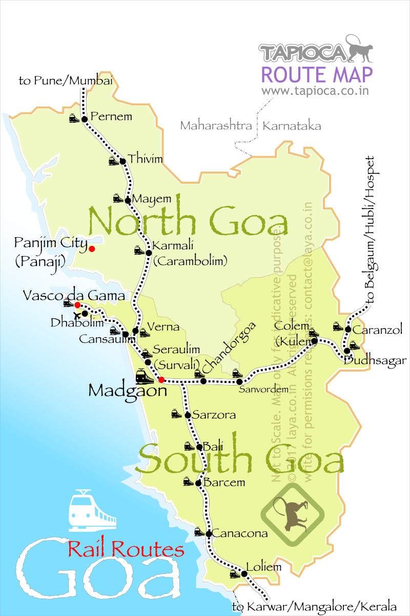 Goa Rail Route Map
