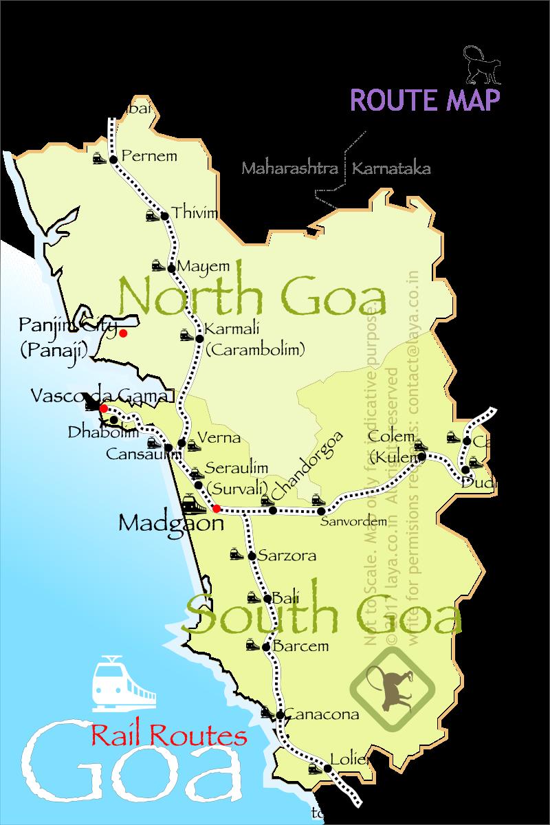 Goa Rail Route Map