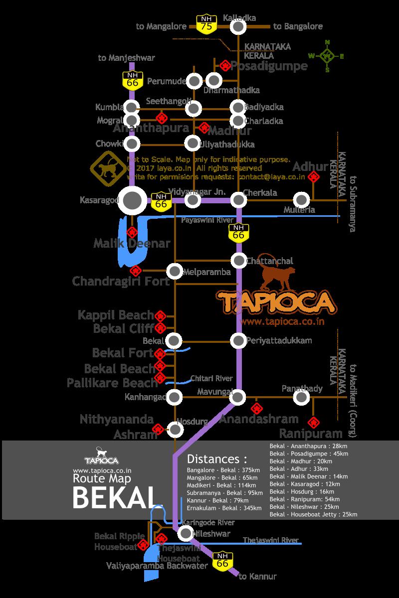 Bekal Route Map