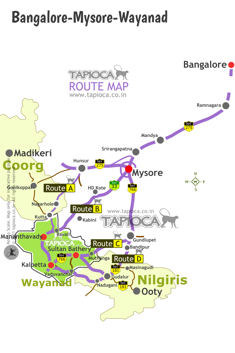 Bangalore To Mysore Route Map Bangalore to Wayanad by Road